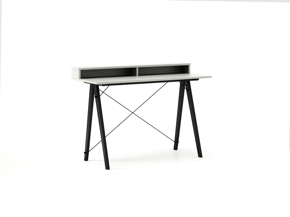 Masa de birou Desk Slim Black Light Grey II, L120xl50xh85 cm