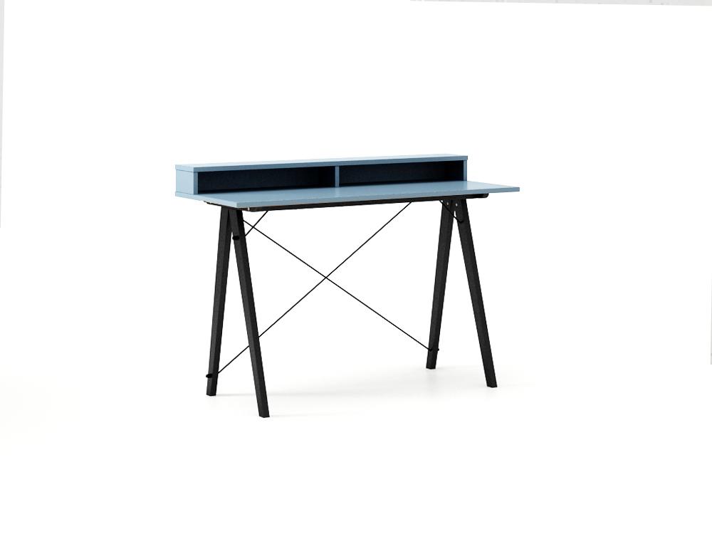 Masa de birou Desk Slim Black Blue II, L120xl50xh85 cm