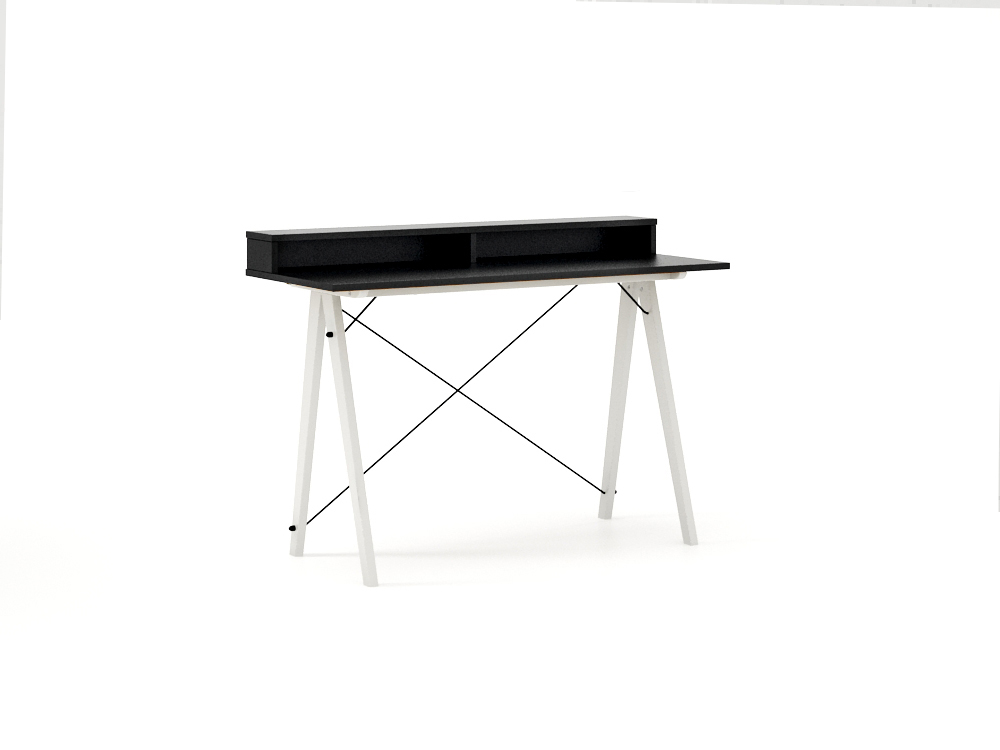Masa de birou Desk Slim White Black II, L120xl50xh85 cm