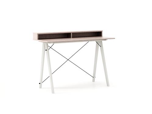 Masa de birou Desk Slim White Dusty Pink II, L120xl50xh85 cm