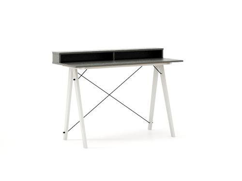 Masa de birou Desk Slim White Grey II, L120xl50xh85 cm