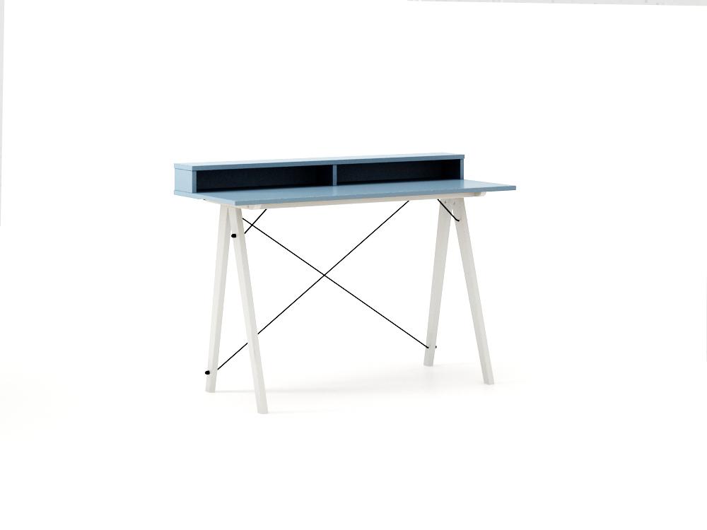 Masa de birou Desk Slim White Blue II, L120xl50xh85 cm