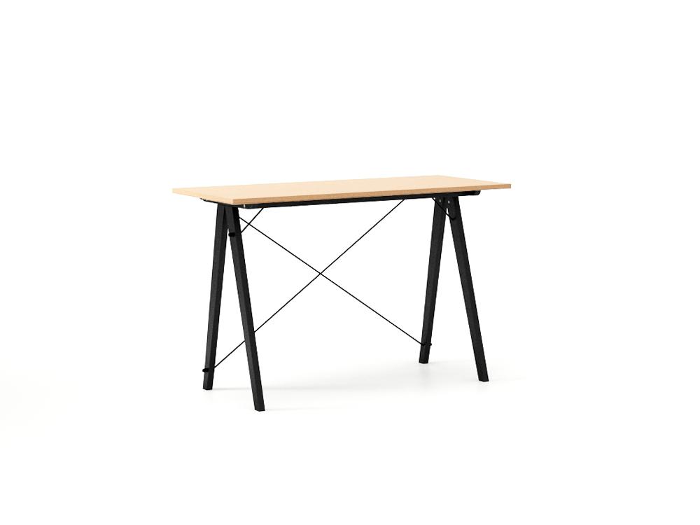 Masa de birou Woodie Beech Black, L120xl50xh75 cm