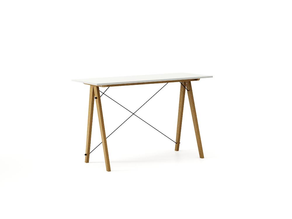 Masa de birou Desk Slim Oak Light Grey, L120xl50xh75 cm