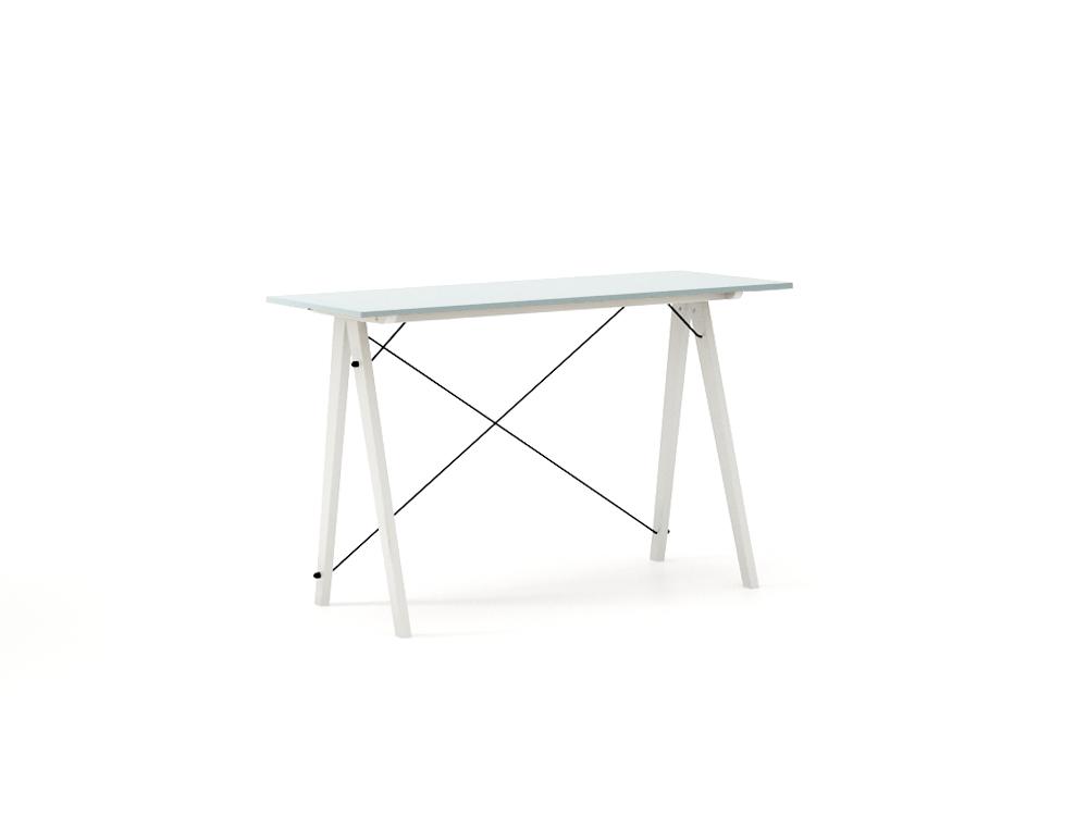 Masa de birou Desk Slim White Ice Blue, L120xl50xh75 cm