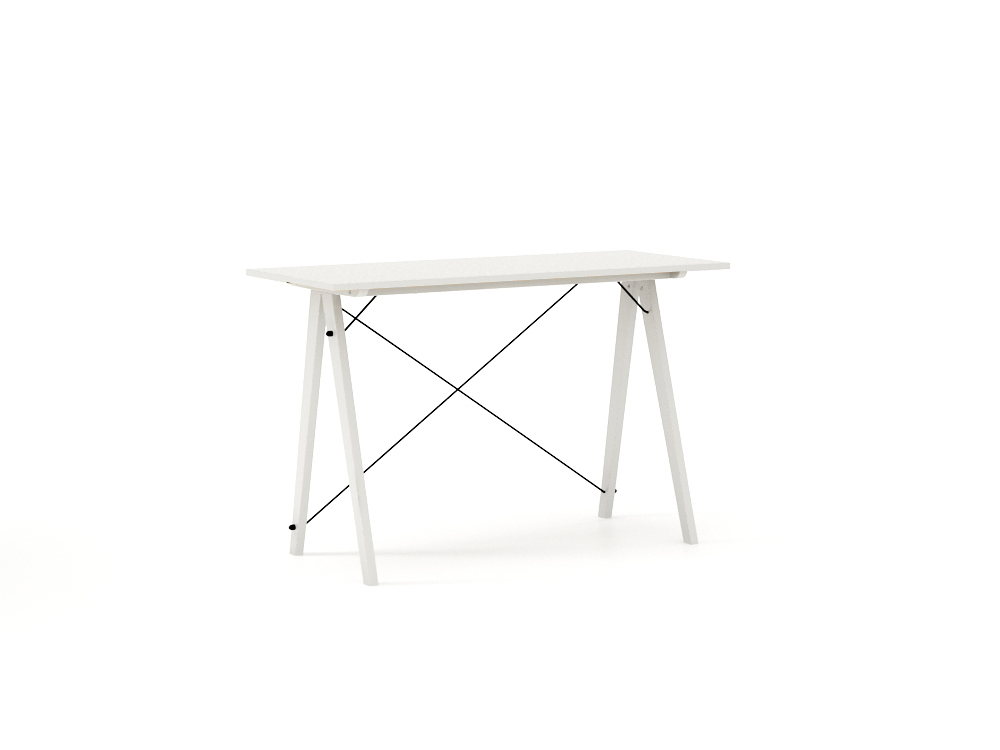 Masa de birou Desk Slim White, L120xl50xh75 cm