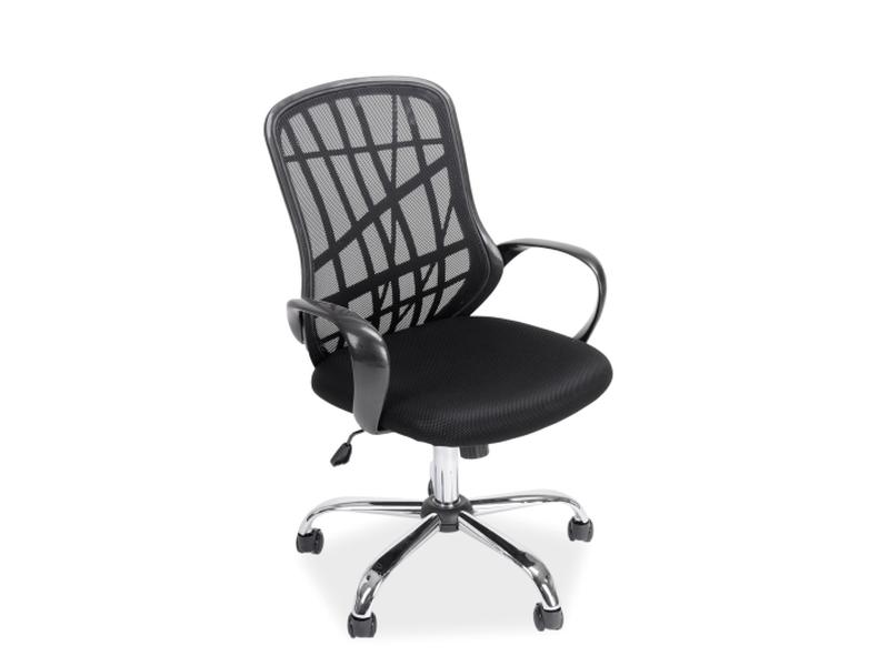 Scaun de birou ergonomic tapitat cu stofa Dexter Black, l51xA45xH95-105 cm imagine