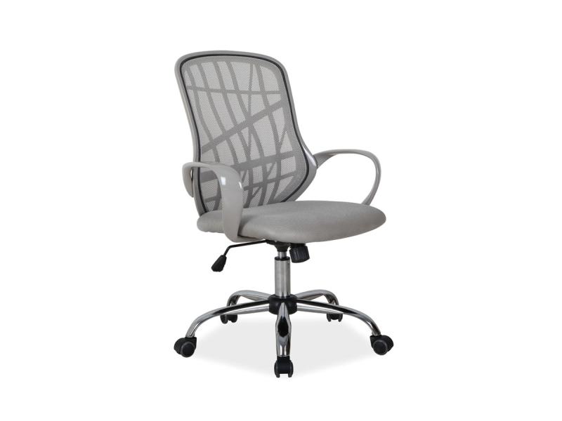 Scaun de birou ergonomic, tapitat cu stofa Dexter Grey, l51xA45xH95-105 cm