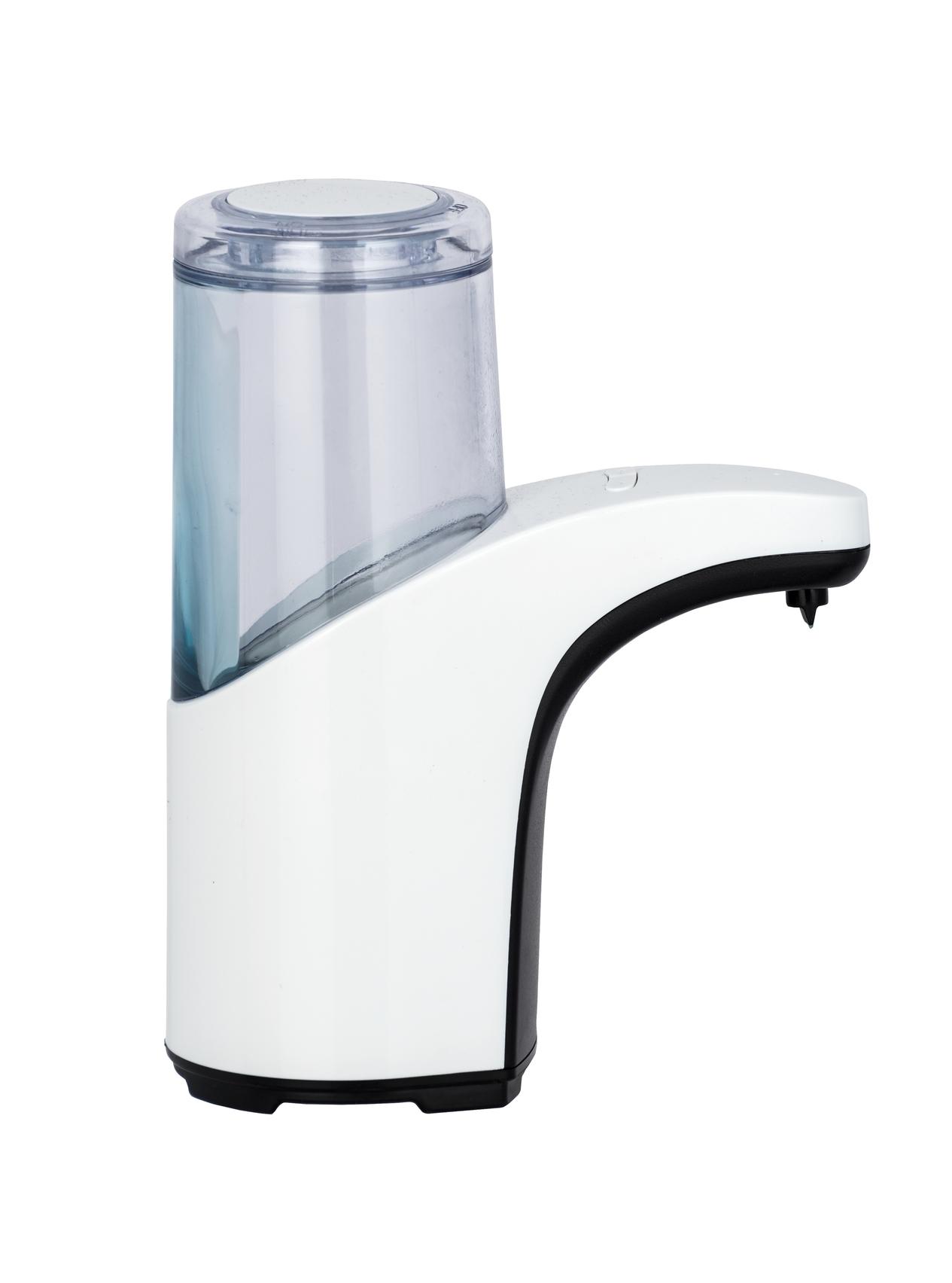 Dozator cu sensor pentru sapun, din acril si ABS, Butler Alb / Transparent, L15xl8xH19,5 cm imagine