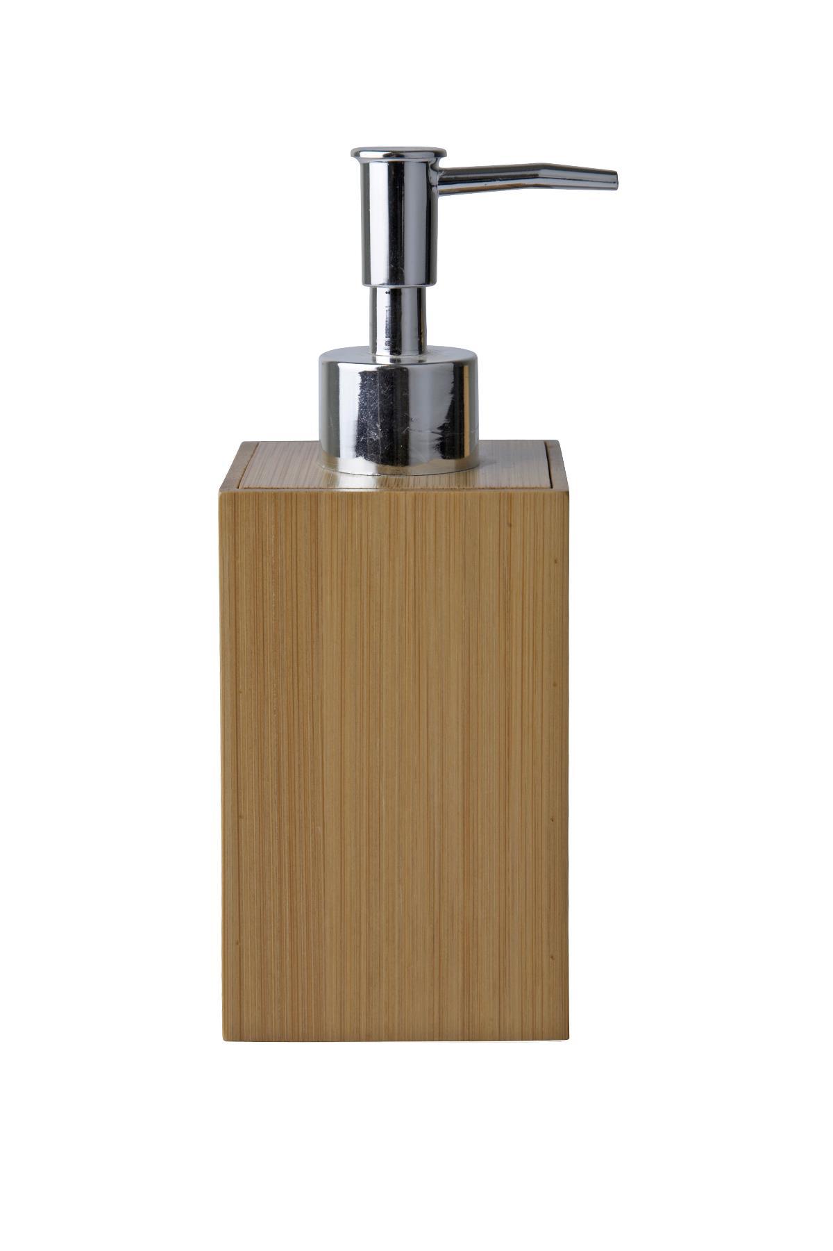 Dozator pentru sapun din bambus, Kj imagine