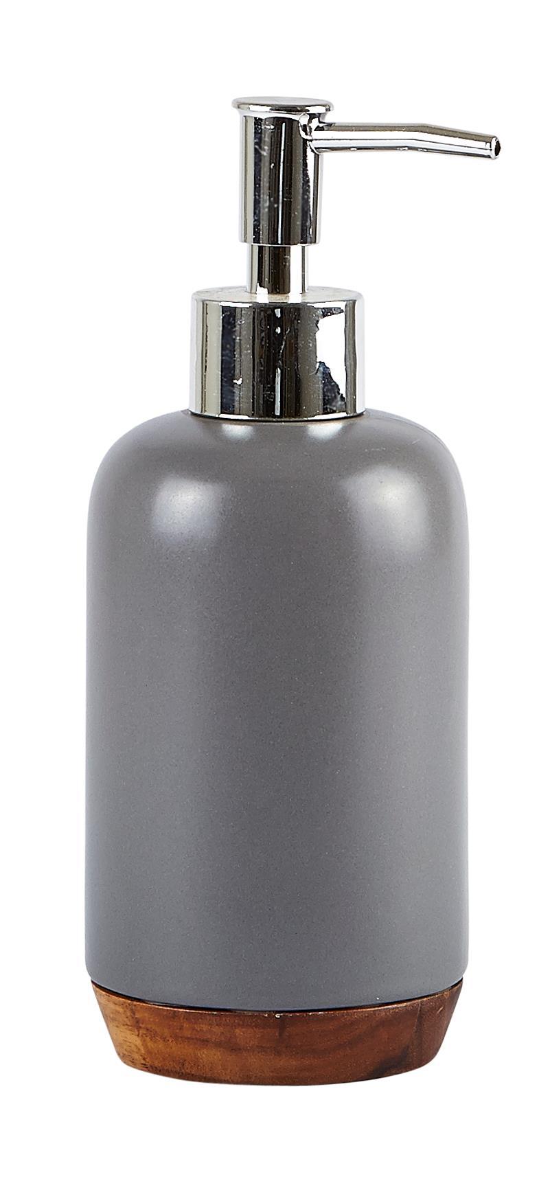 Dozator pentru sapun din ceramica, 350 ml, Kj-Gri imagine