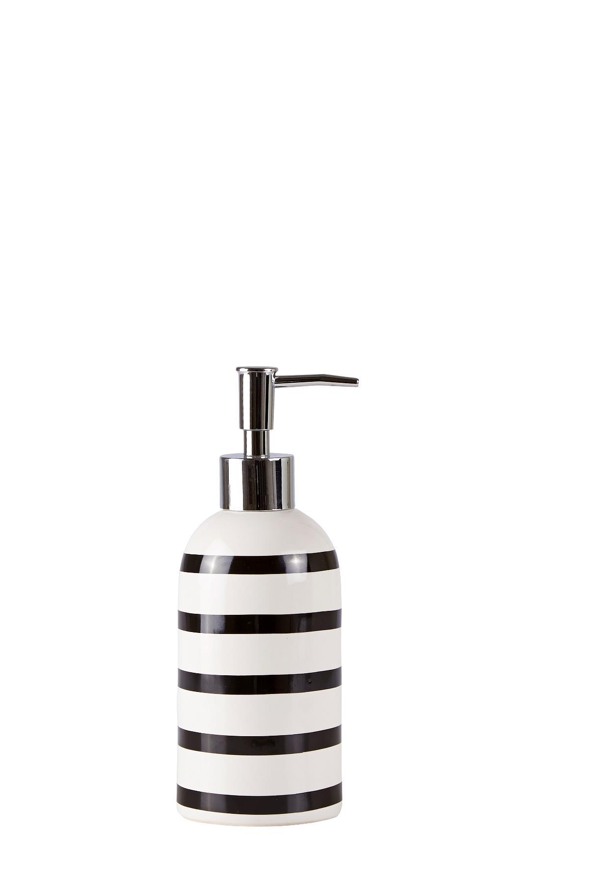 Dozator pentru sapun din ceramica Black / White, Kj