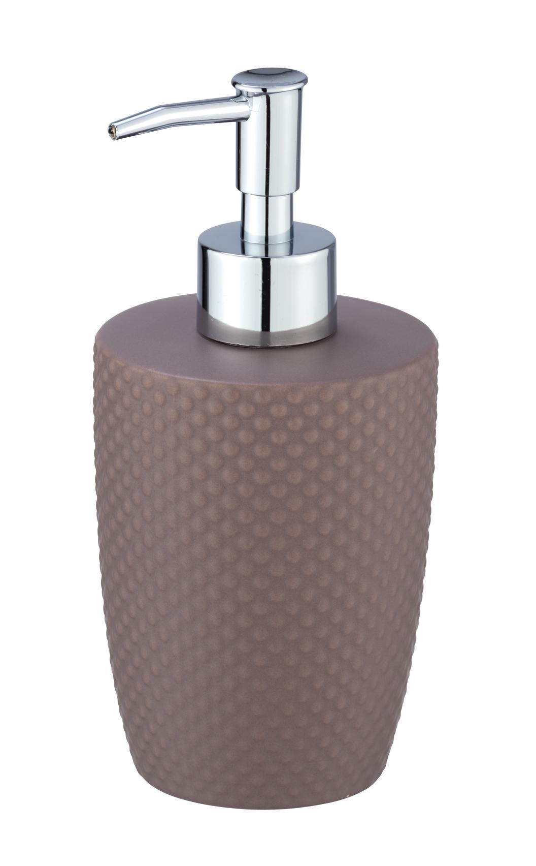 Dozator pentru sapun, din ceramica, Punto Taupe, Ø8,5xH17,5 cm imagine