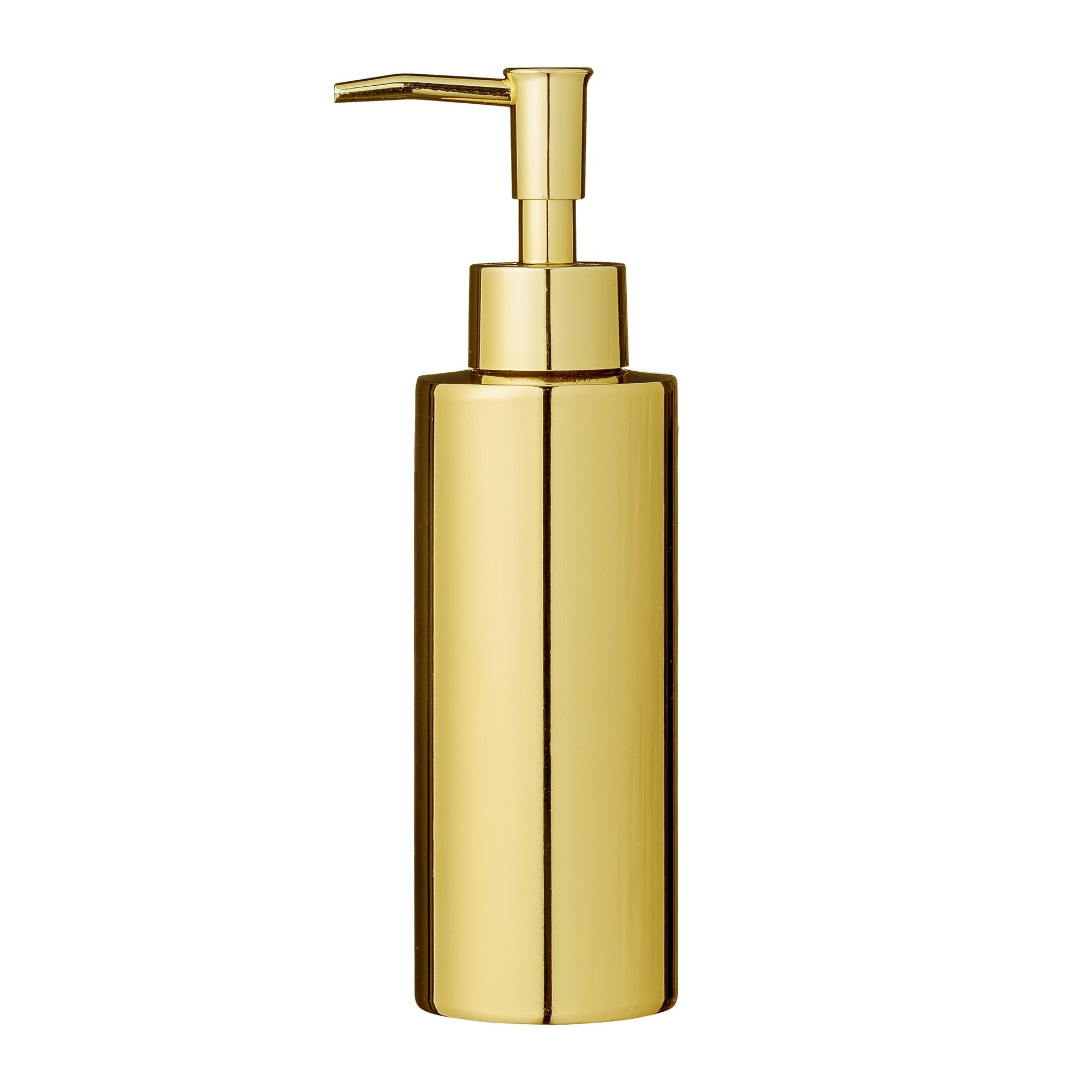 Dozator pentru sapun din metal, Goldy Auriu, Ø5,5xH19,5 cm imagine