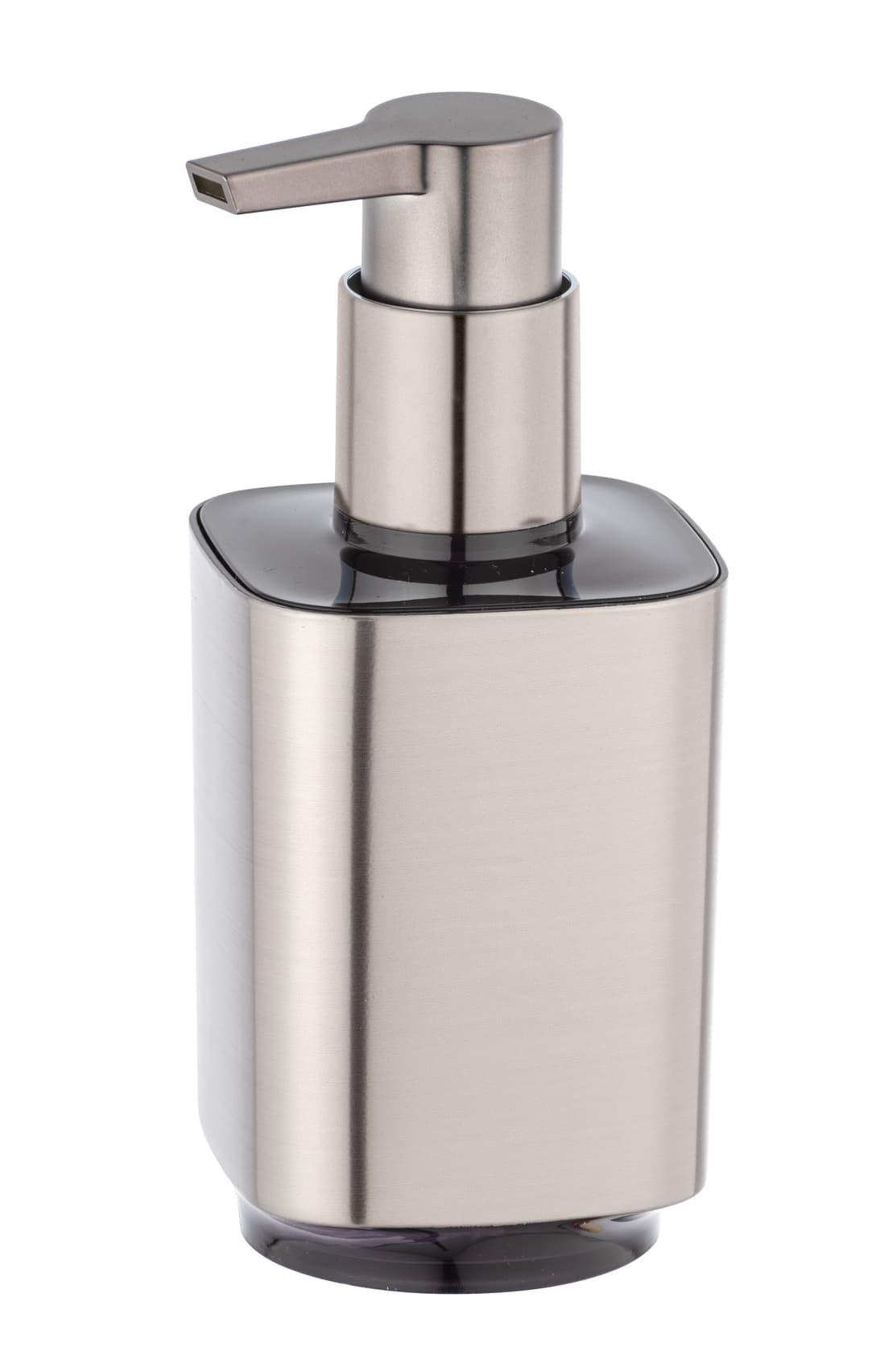 Dozator pentru sapun, din plastic, Auron Crom, L7xl8xH16,5 cm imagine