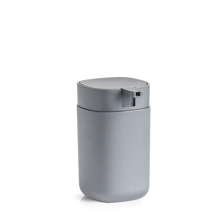 Dozator pentru sapun din plastic, Wellness Antracit, Ø7,3xH12,1 cm imagine