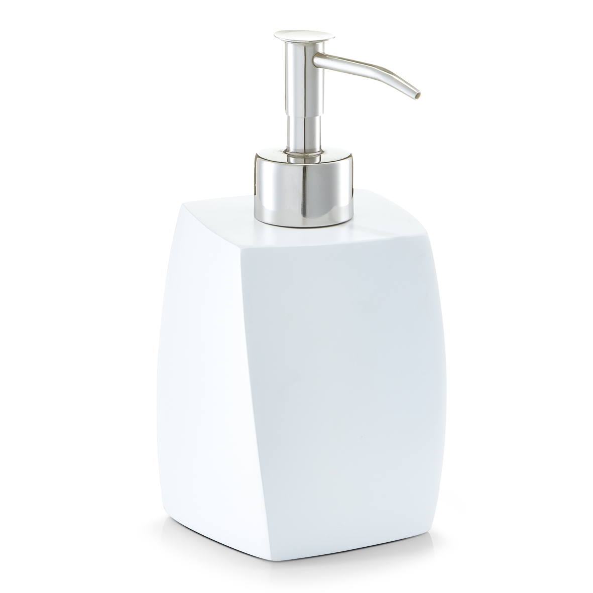 Dozator pentru sapun din polirasina, Twisted White, l8xA8xH16,5 cm