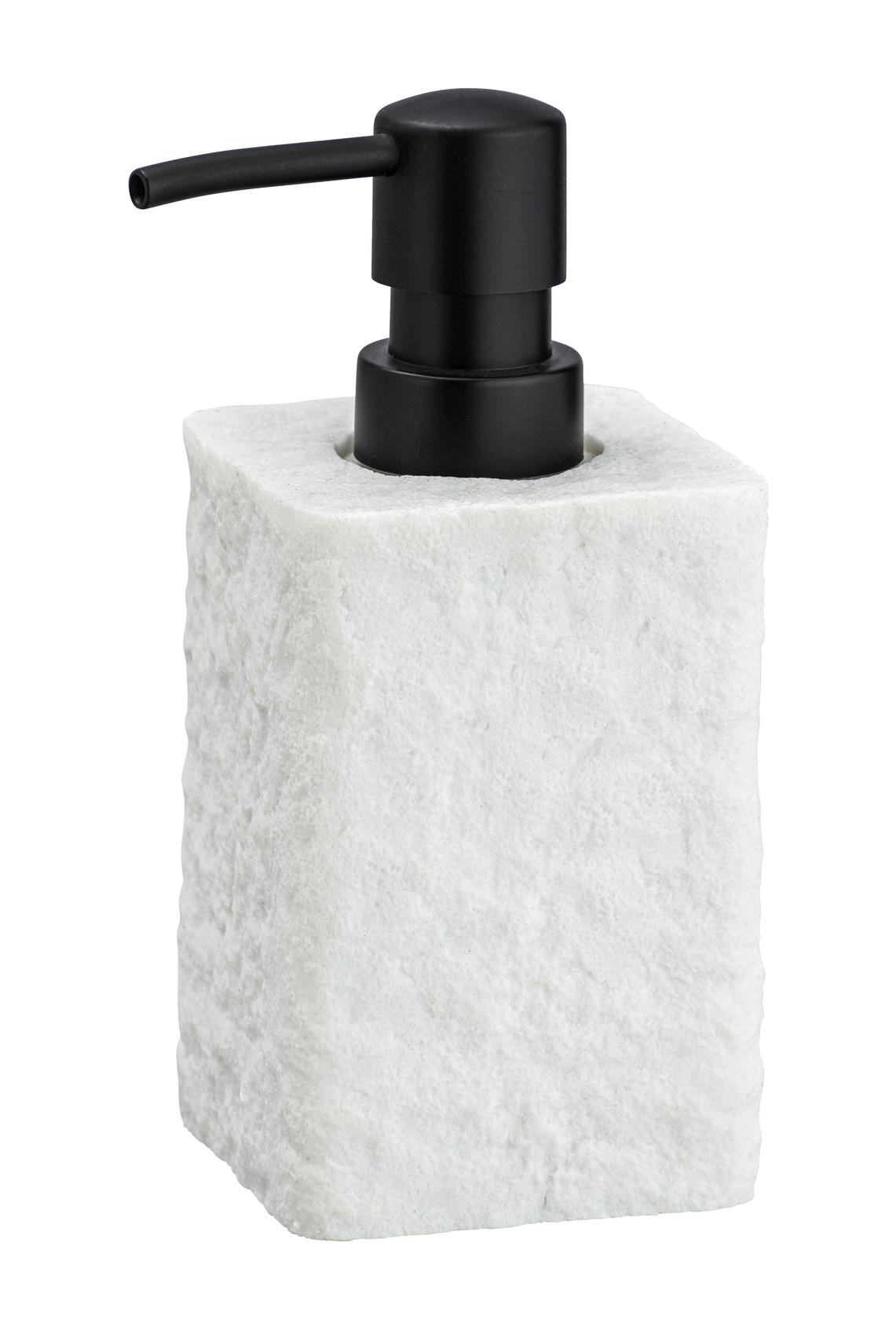 Dozator pentru sapun, din polirasina, Villata Alb, L7xl7xH15 cm imagine