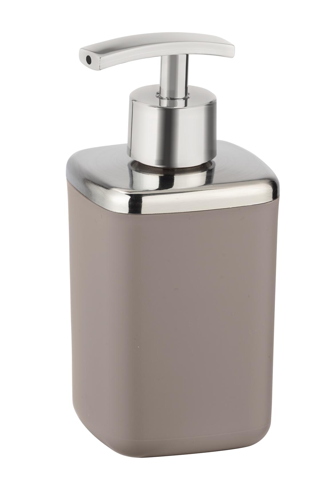 Dozator pentru sapun, din termoplastic, Barcelona Taupe, L7xl7xH16 cm imagine