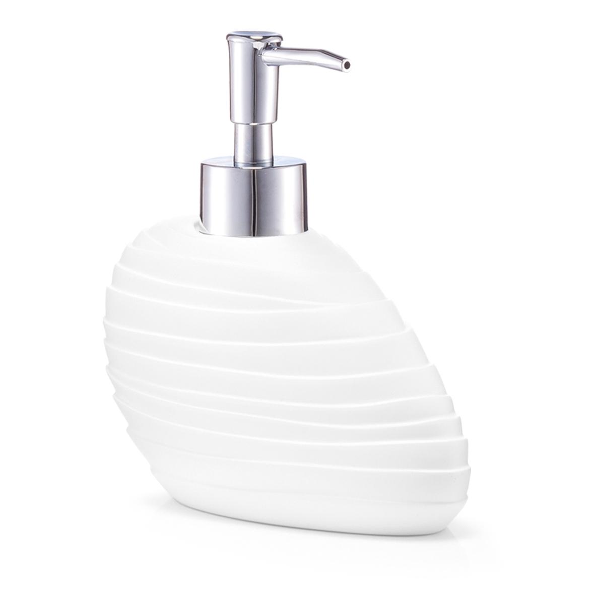 Dozator pentru sapun din polirasina Abstrakt White l152xA76xH15 cm