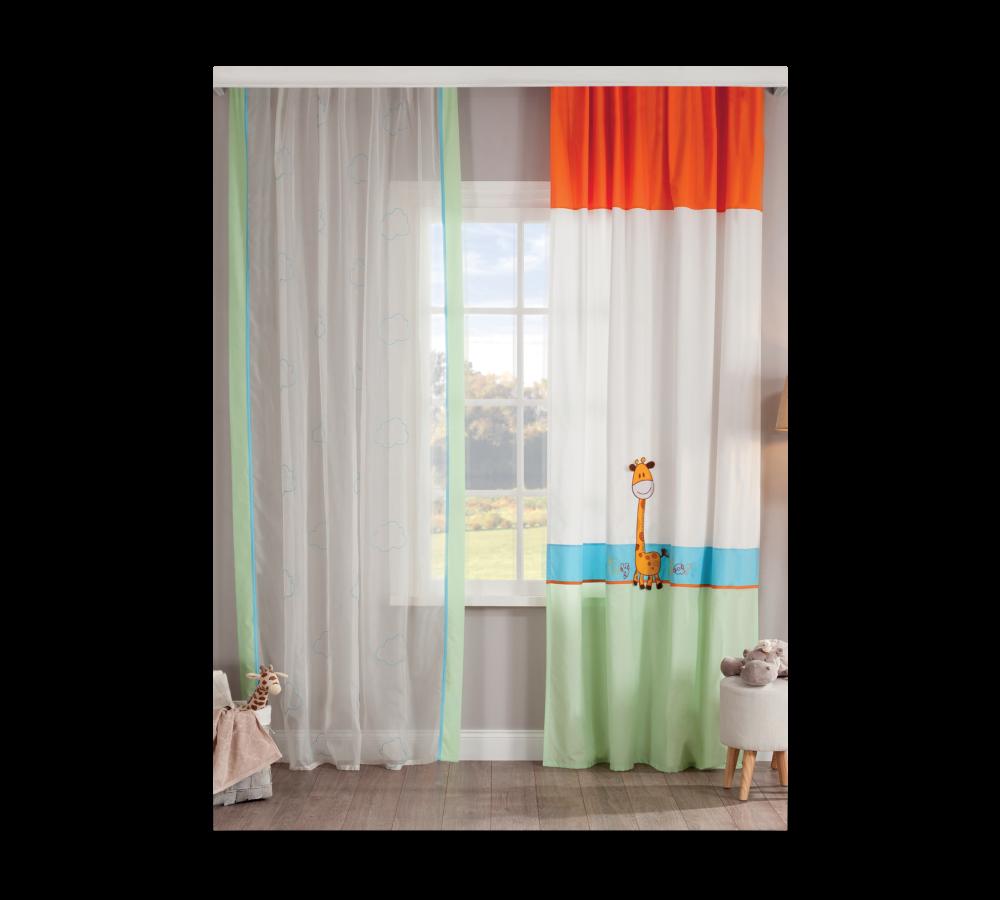 Set perdea si draperie pentru copii Baby Safari Multicolour