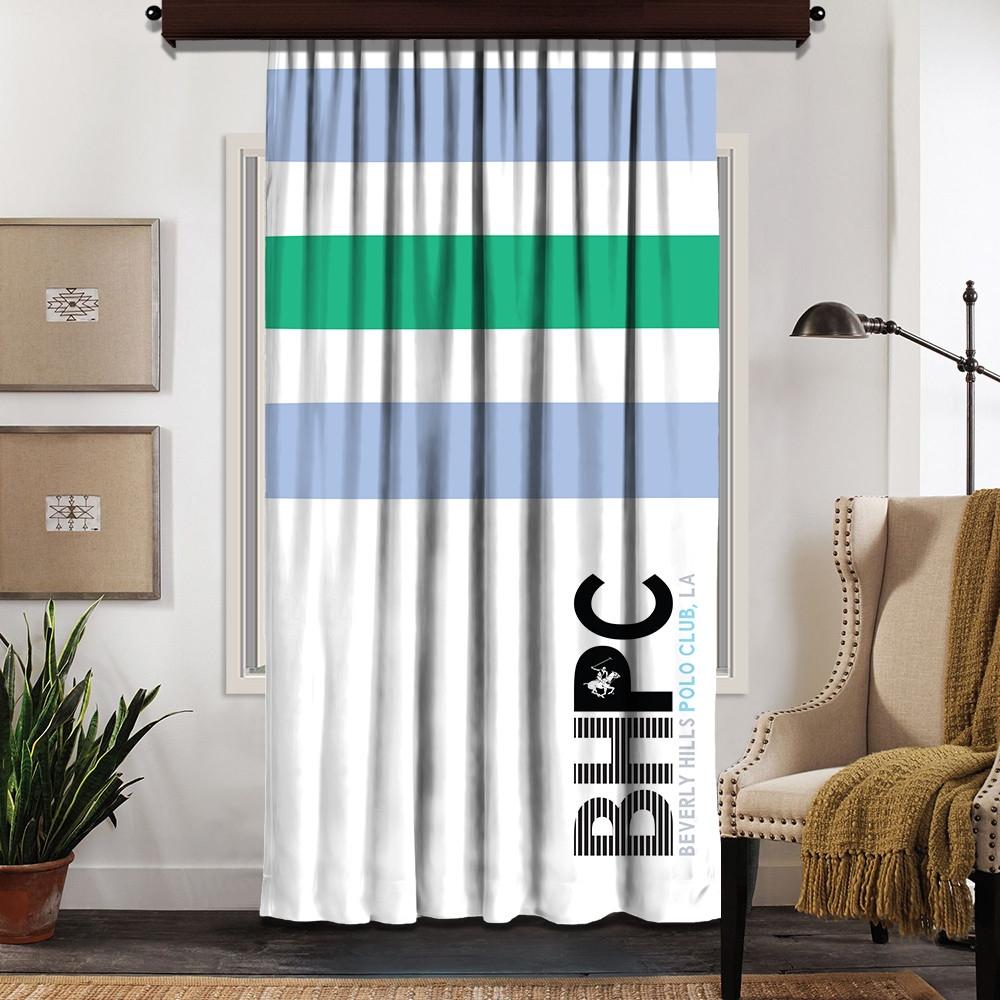 Draperie Beverly Hills Polo Club Crt 07-6 Bleu / Verde / Alb, 140 x 260 cm poza