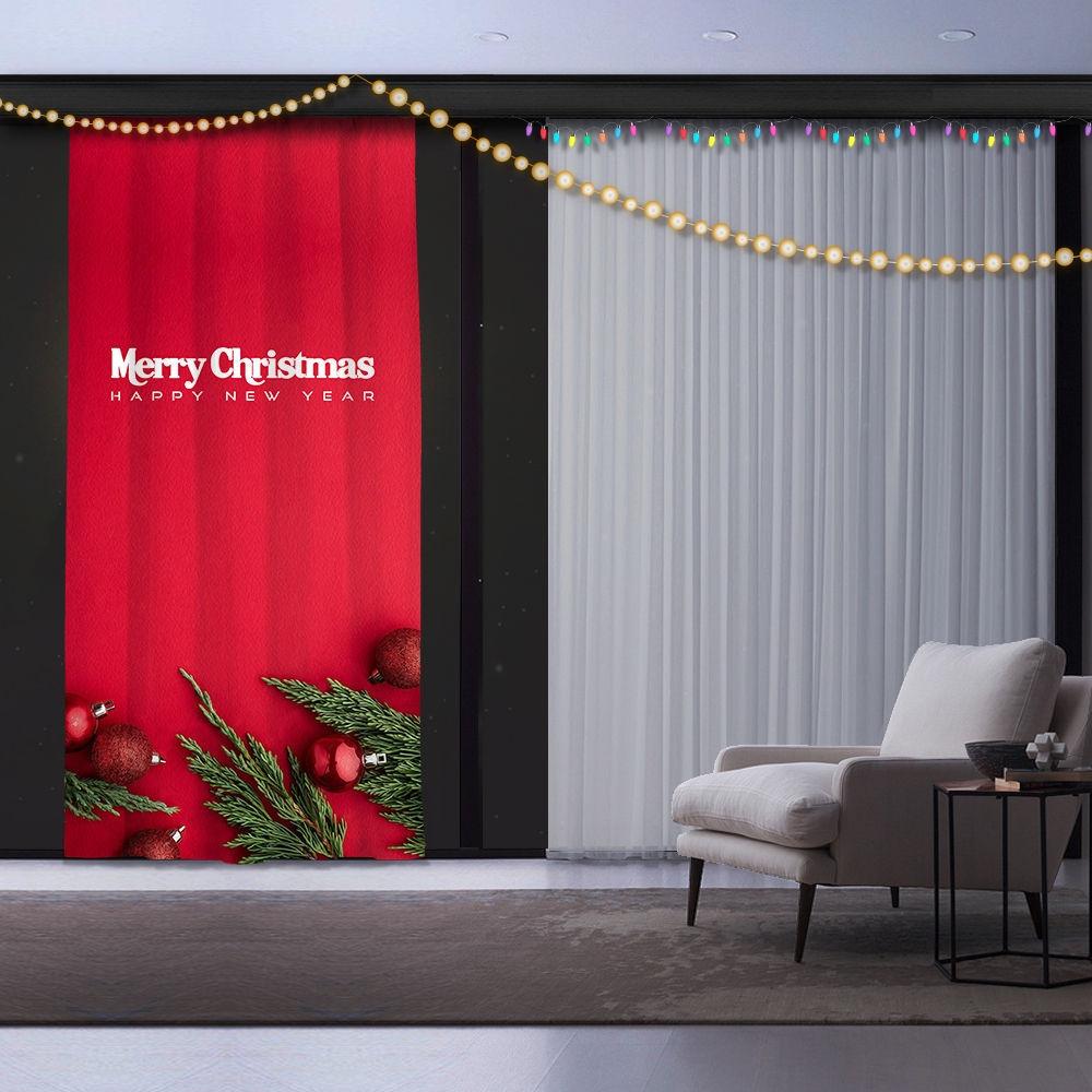 Draperie Christmas Multicolor, 140 x 260 cm, 1 bucata
