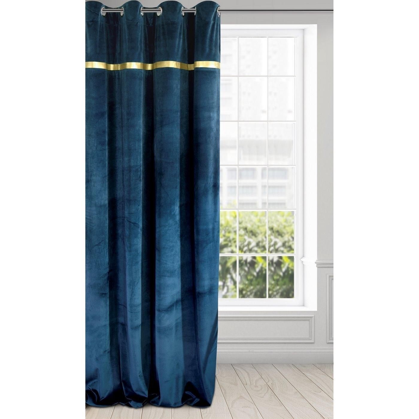 Draperie Emera Velvet Bleumarin, 140 x 250 cm, 1 bucata