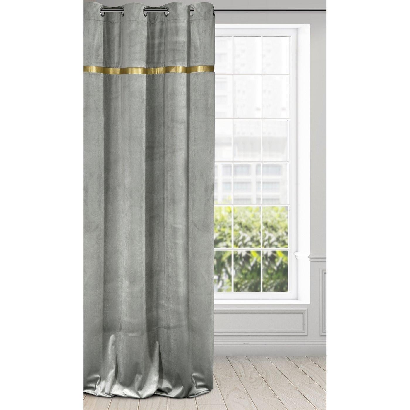 Draperie Emera Velvet Gri, 140 x 250 cm, 1 bucata