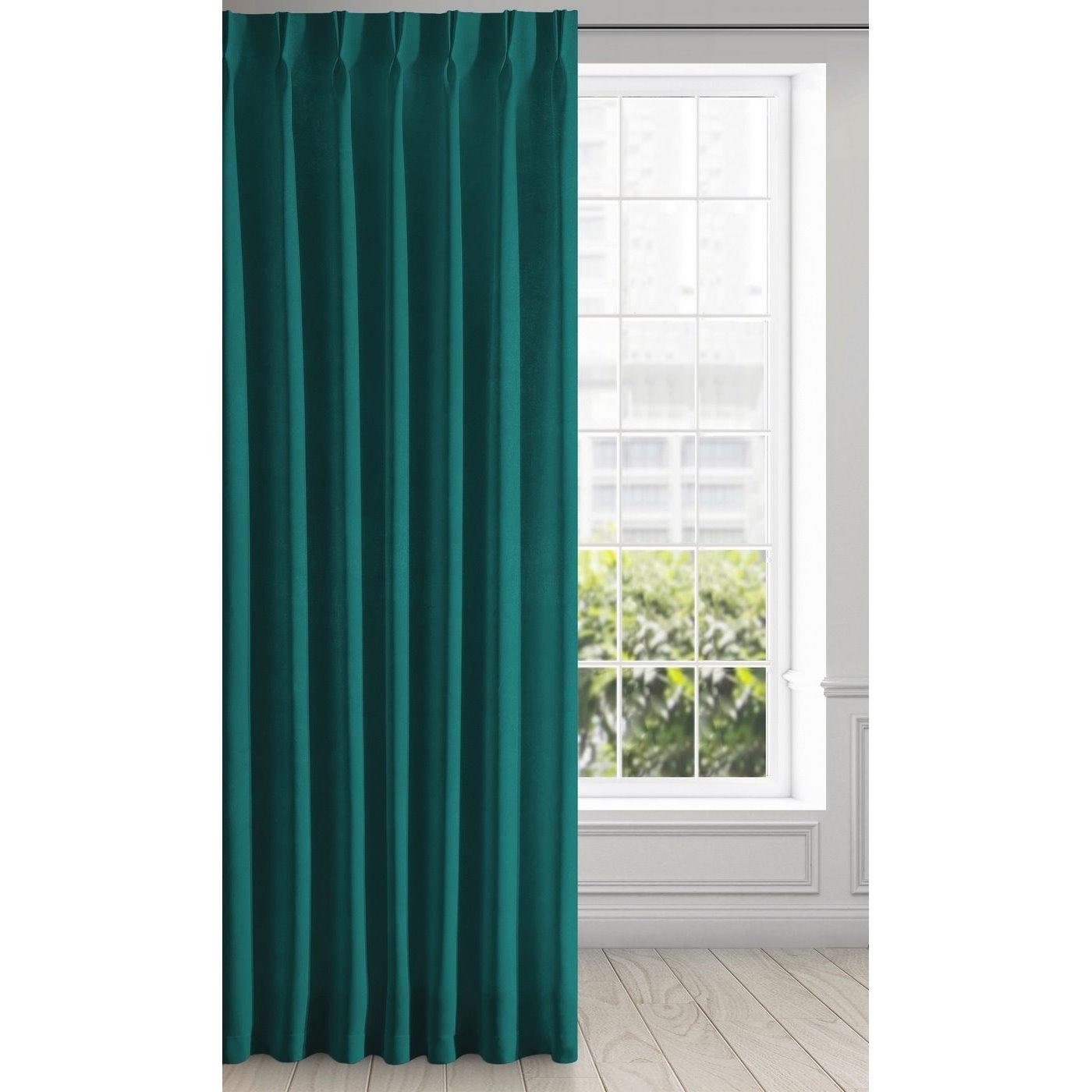 Draperie Ines Velvet Verde, 140 x 270 cm, 1 bucata poza