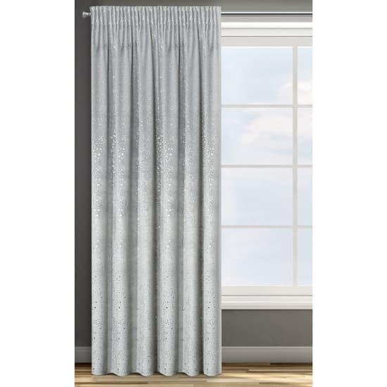 Draperie Laila Velvet Argintiu, 140 x 270 cm, 1 bucata
