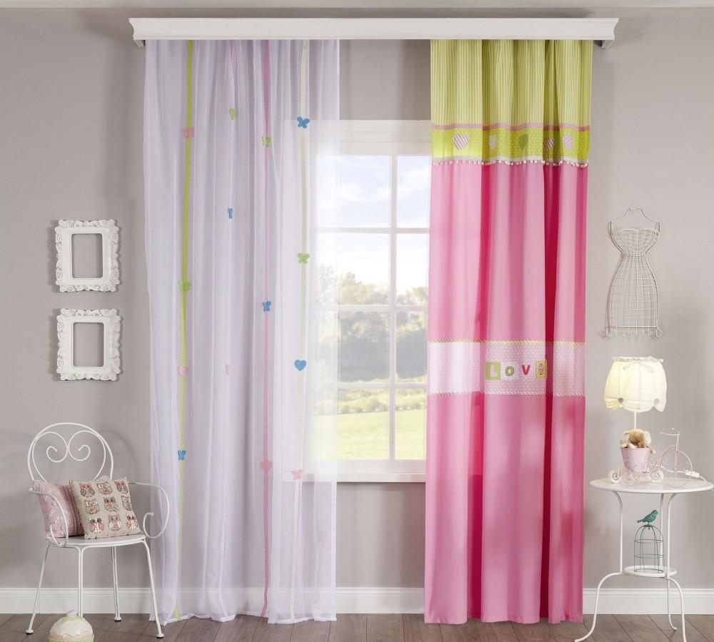 Set perdea si draperie pentru copii Love Multicolour somproduct.ro