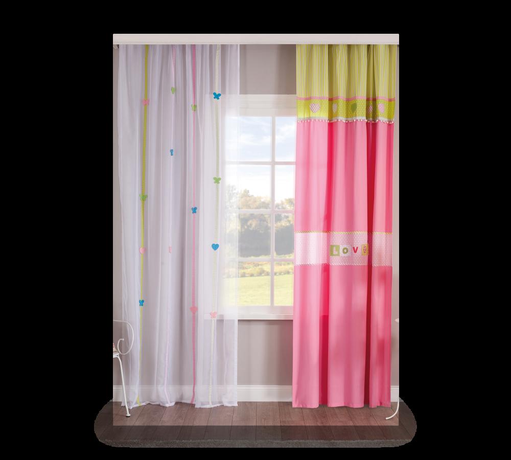 Set perdea si draperie pentru copii Love Multicolour