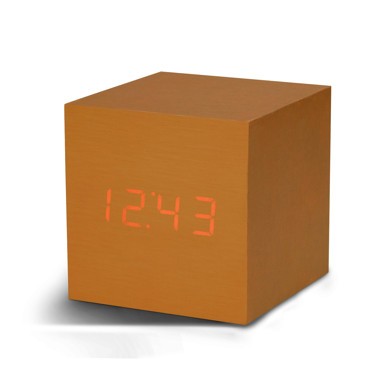 Ceas inteligent Cube Click Clock Copper/Red