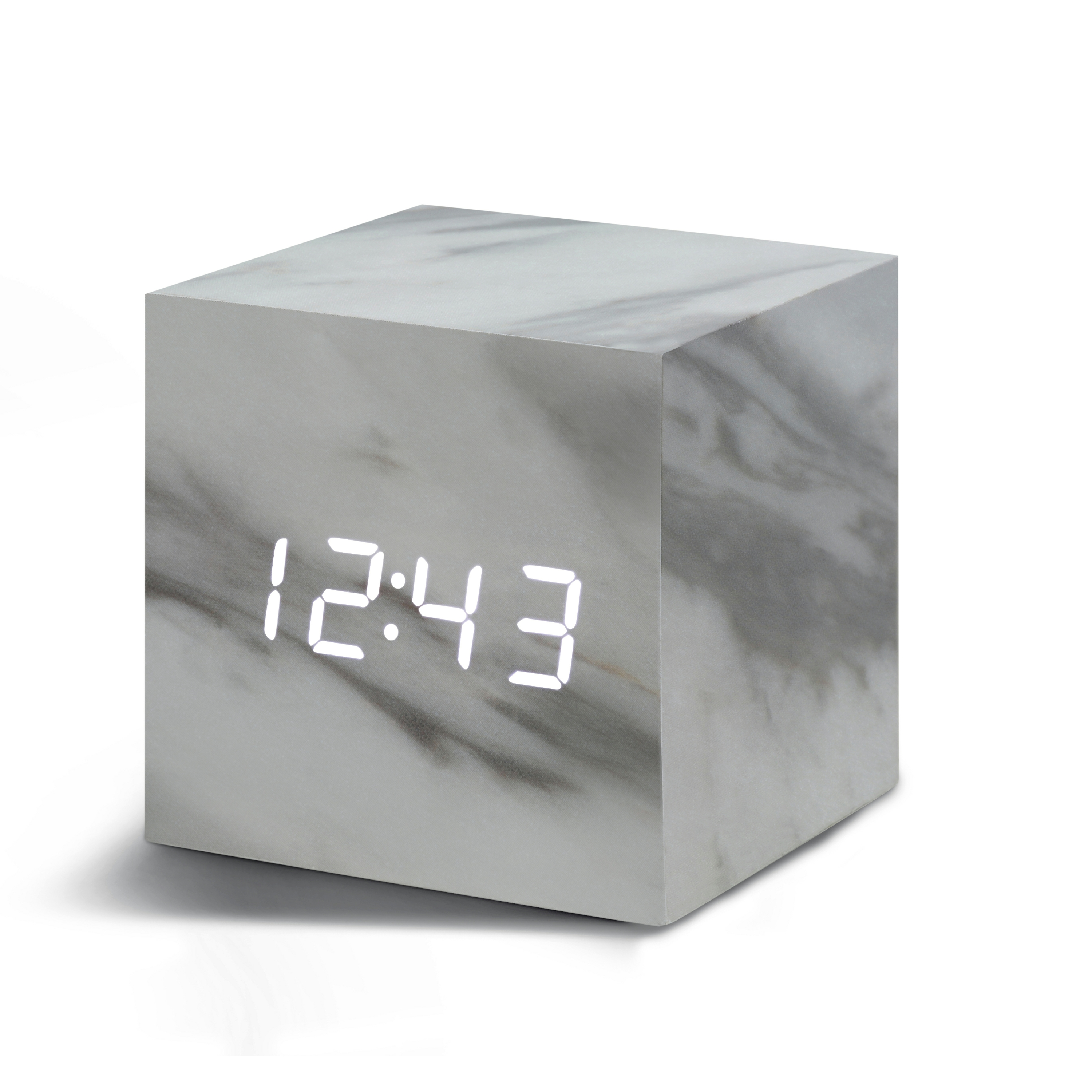 Ceas inteligent Cube Click Clock Marble/White