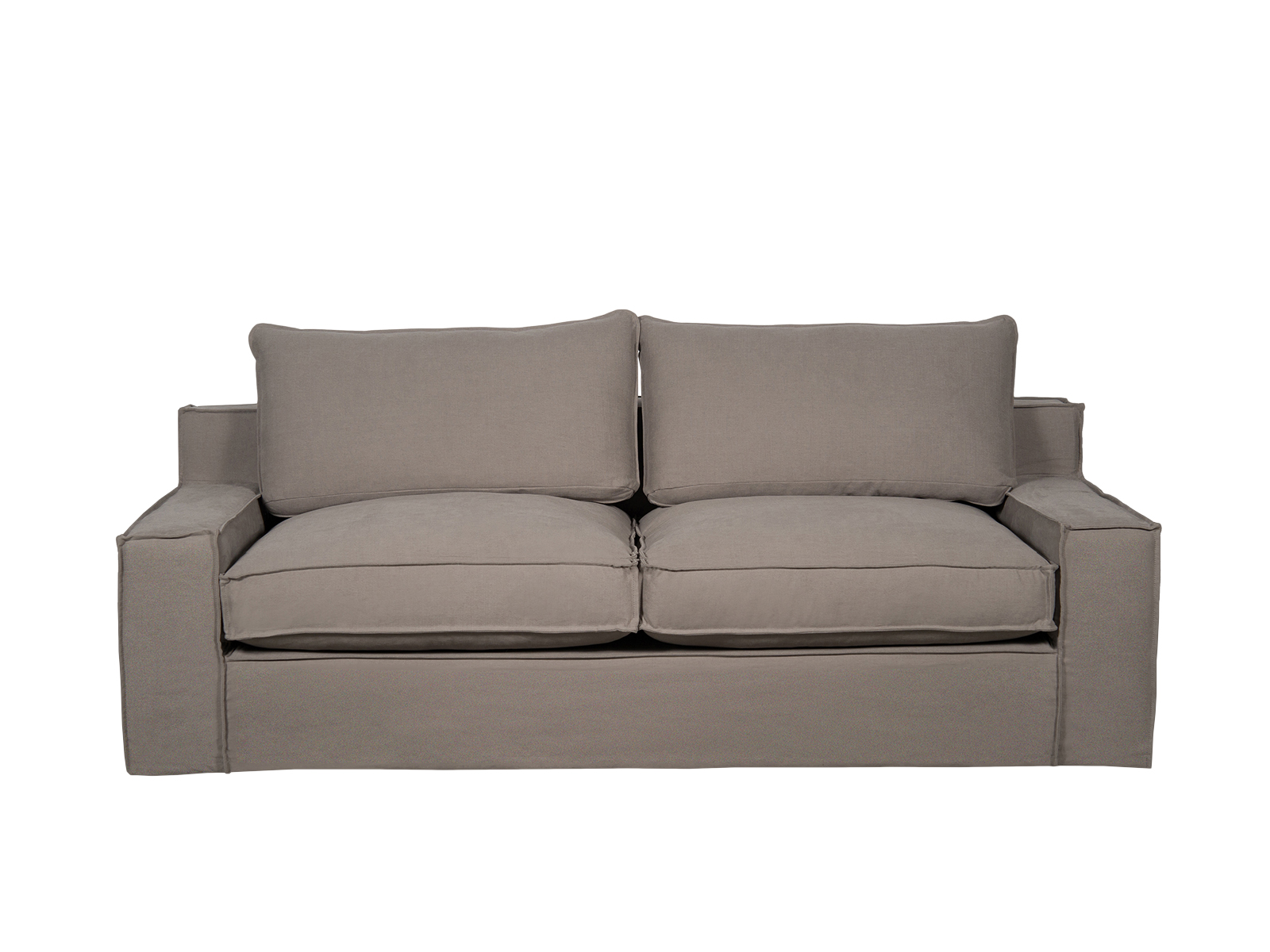 Canapea fixa 3 locuri Capri Brown