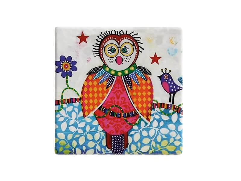 Set 6 coastere Boobook, Ceramica, Smile Style, 9 cm