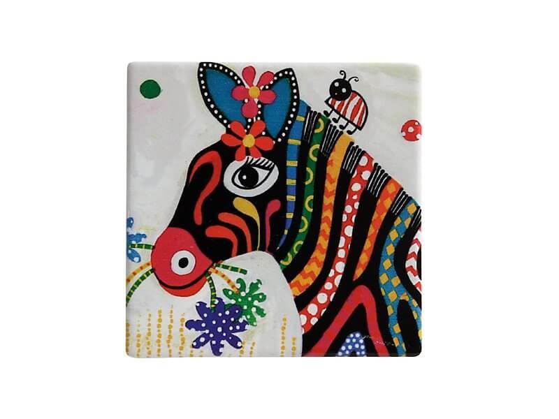 Set 6 coastere Stripes, Ceramica, Smile Style, 9 cm