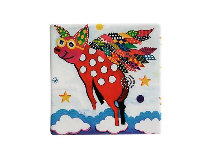 Set 6 coastere Pigasus, Ceramica, Smile Style, 9 cm