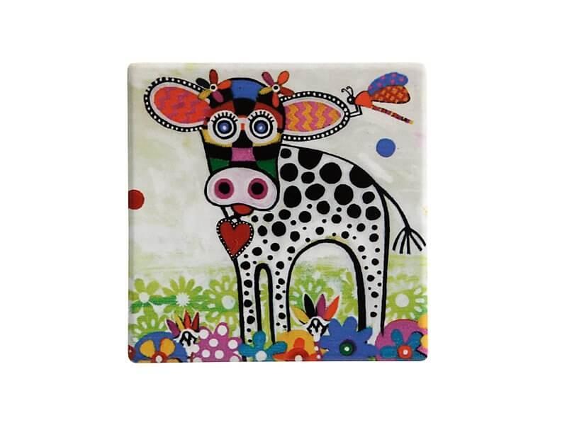 Set 6 coastere Betsy, Ceramica, Smile Style, 9 cm