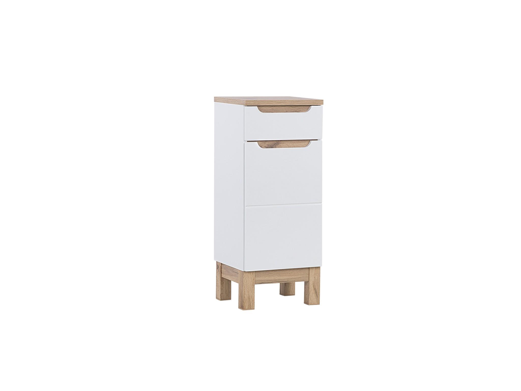 Dulap baie cu 1 usa si 1 sertar, Bali White, l35xA33xH86 cm imagine