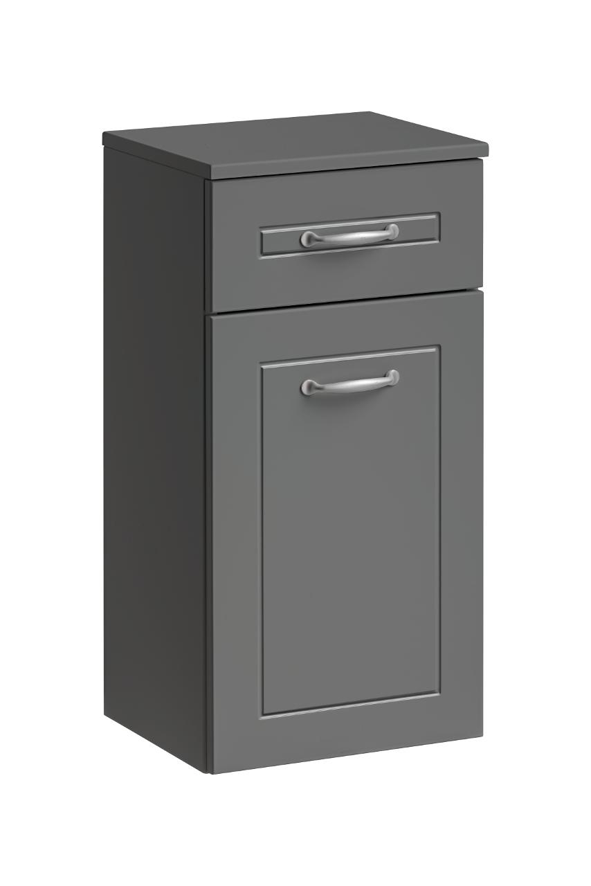 Dulap baie cu 1 usa si 1 sertar, Sophia Cement, l35xA30xH70 cm imagine