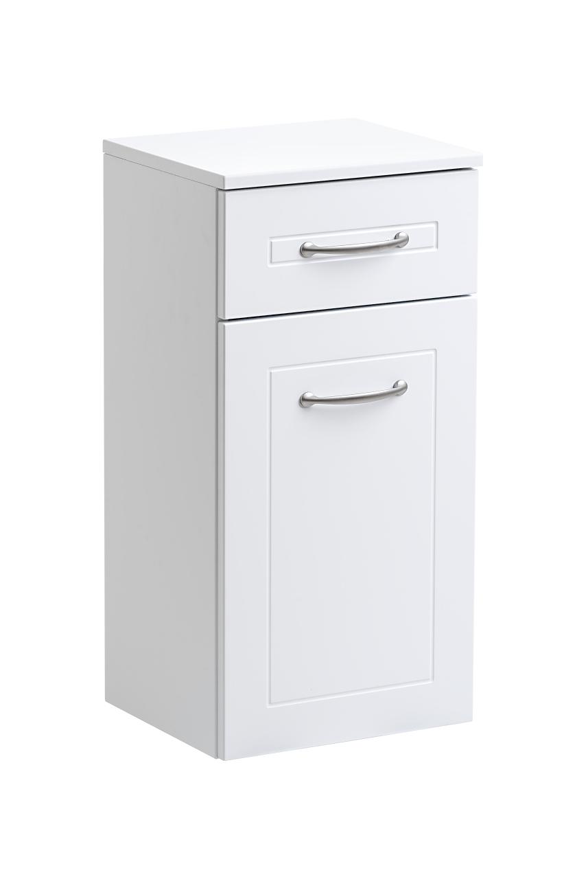 Dulap baie cu 1 usa si 1 sertar, Sophia White, l35xA30xH70 cm imagine