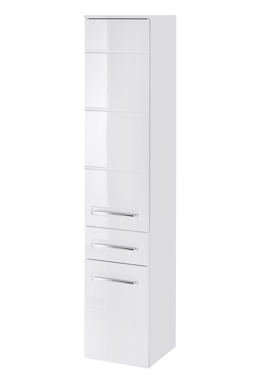 Dulap baie inalt 2 usi si 1 sertar, Active, l35xA33xH170 cm imagine