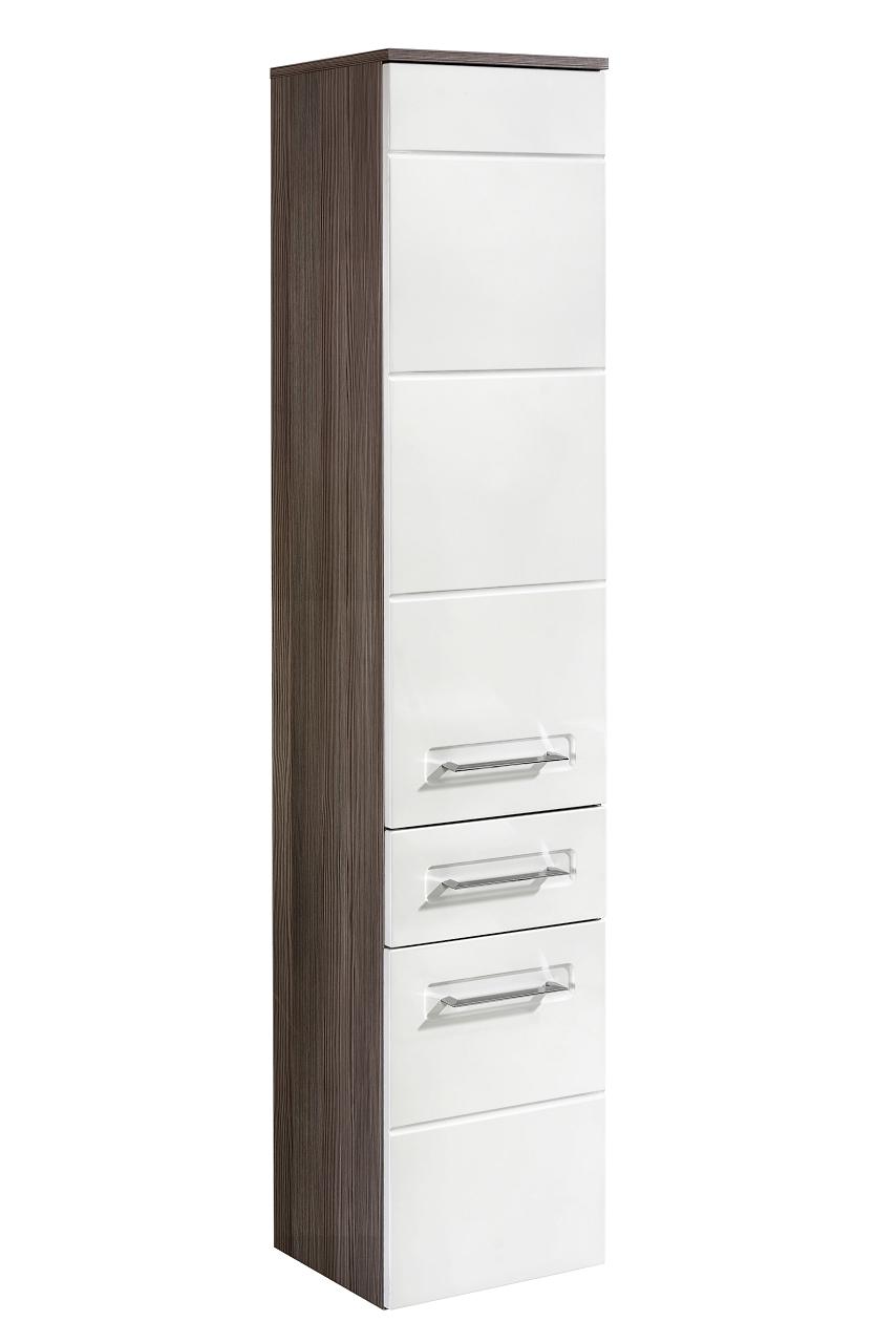 Dulap baie inalt 2 usi si 1 sertar, Cosmo II, l35xA33xH170 cm