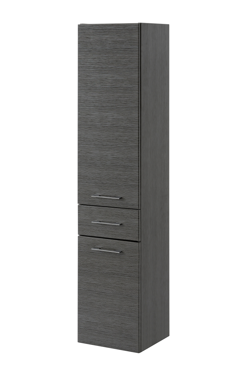 Dulap baie inalt, 2 usi si 1 sertar, Viento, l35xA33xH158 cm imagine