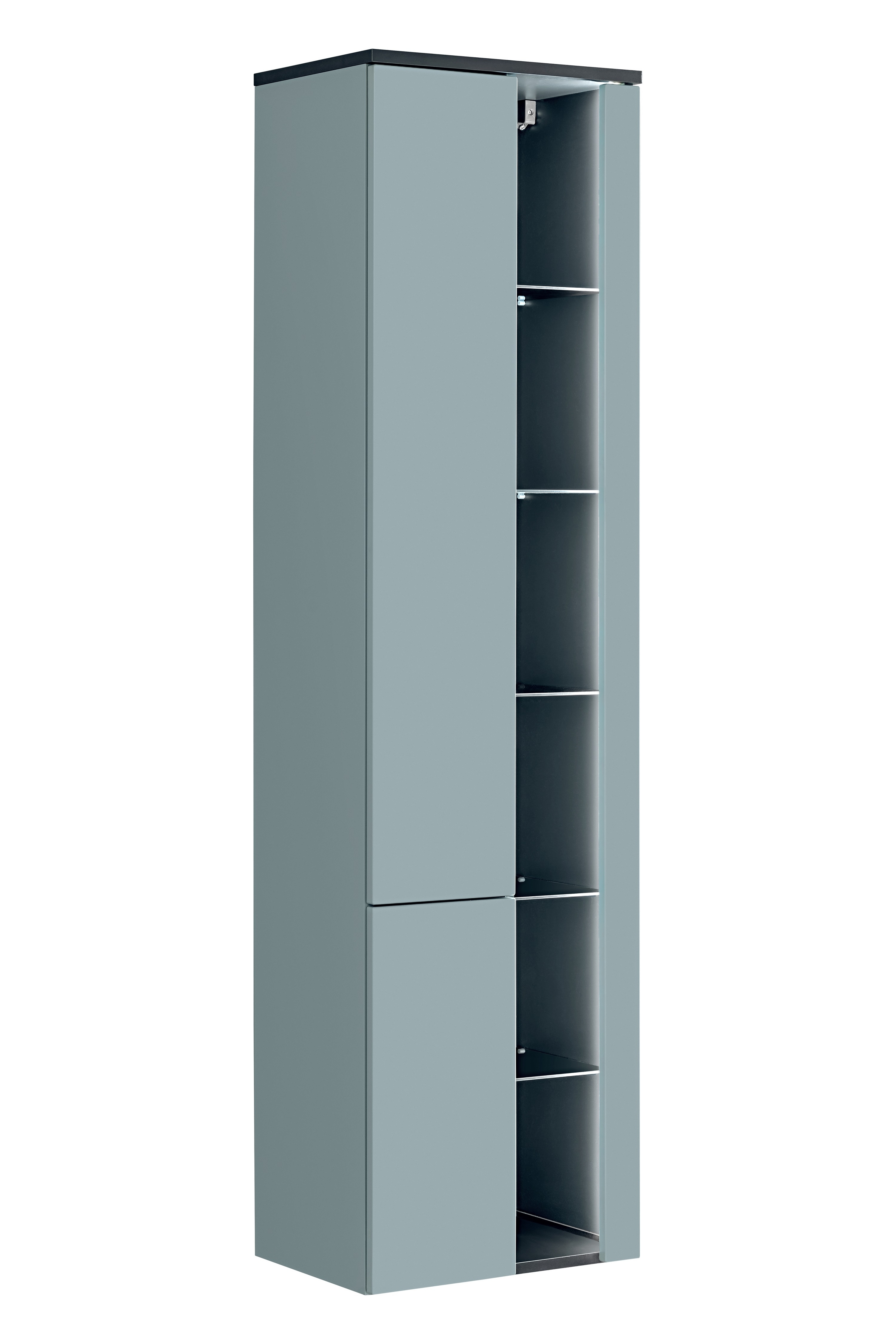 Dulap baie inalt cu rafturi si 2 usi, Bahama Mint, l45xA33xH170 cm imagine
