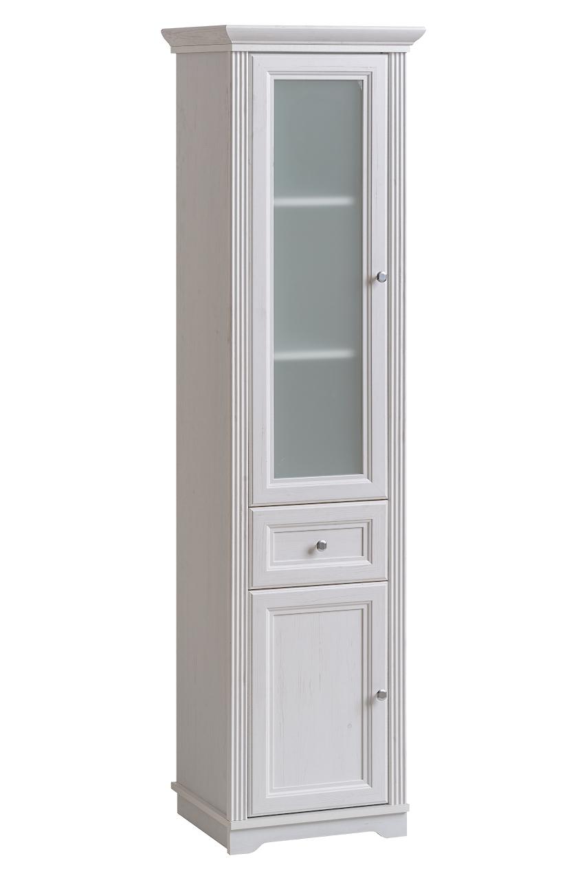 Dulap baie inalt cu vitrina 2 usi si 1 sertar, Palace Andersen, l49xA43xH190 cm imagine