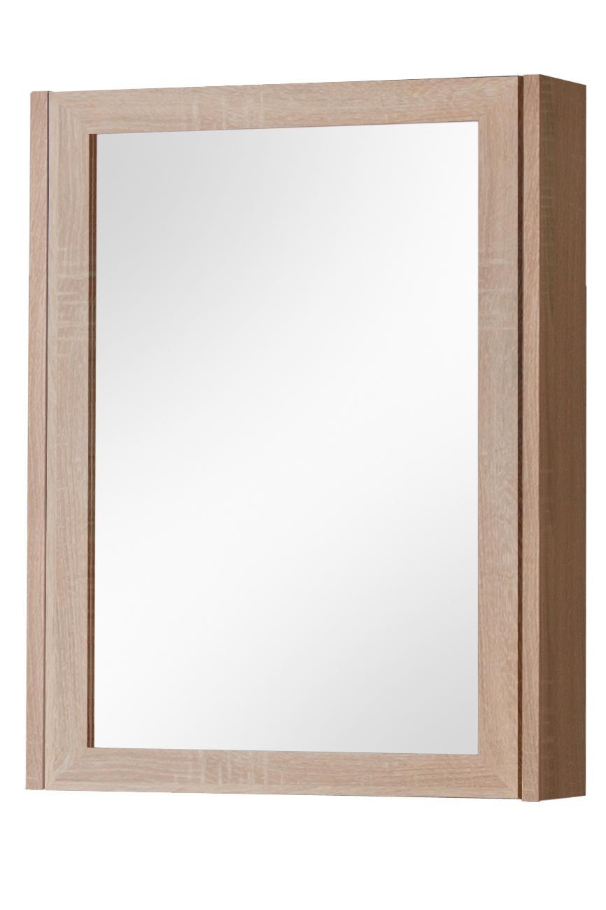 Dulap baie suspendat cu 1 usa si oglinda Piano l50xA14xH69 cm