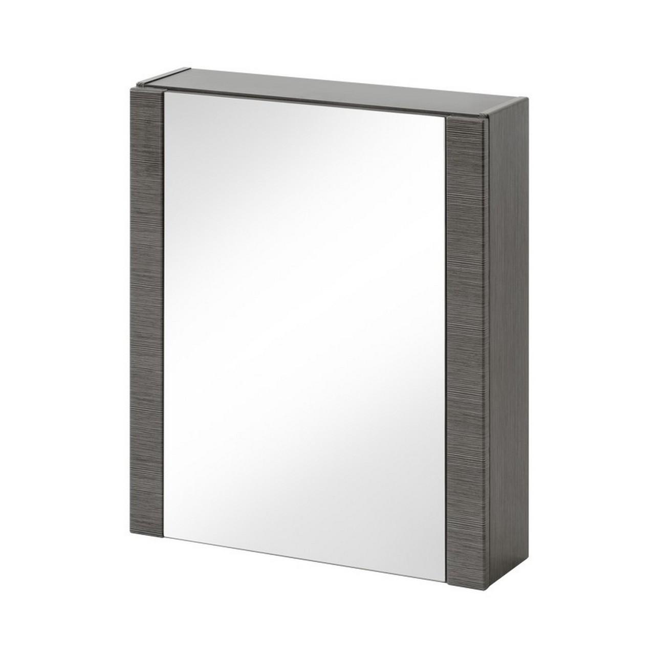 Dulap baie suspendat cu 1 usa si oglinda, Viento, l60xA16xH69 cm imagine